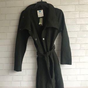 Anthropologie Wool Moss Wrap Coat